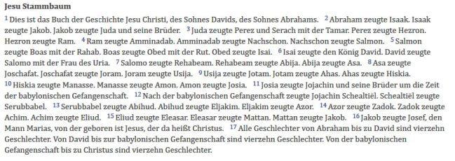 Matthäus 1 - Lutherbibel 2017 __ BibleServer