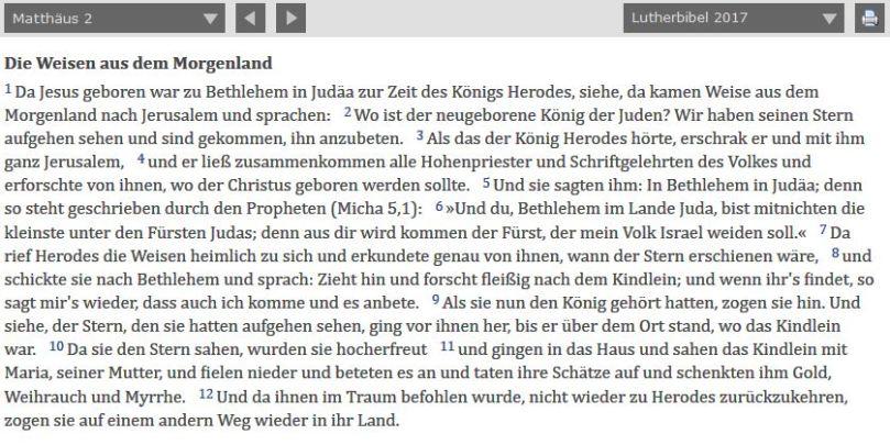 Matthäus 2, 1-12, Lutherbibel 2017 __ BibleServer